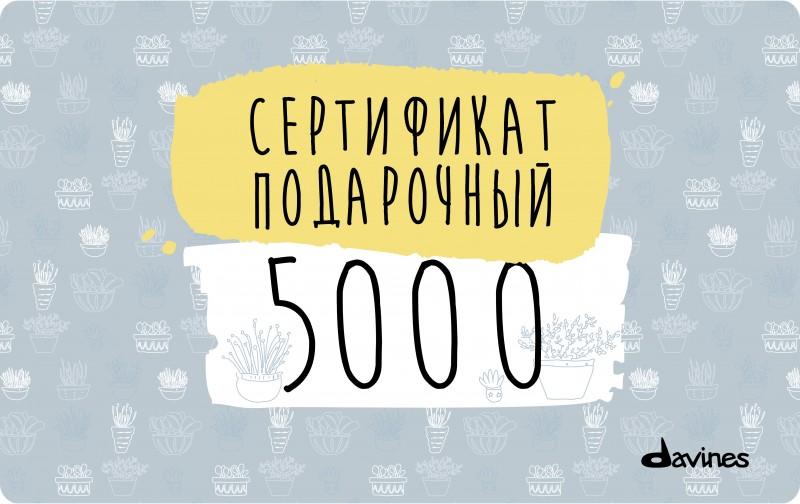 Подарочный сертификат Davines 5000